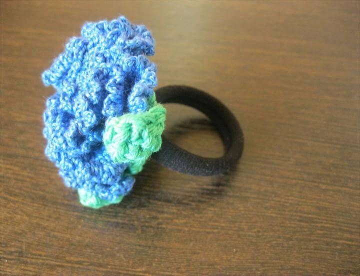 38 Crochet Hair Ties Free Pattern To Make