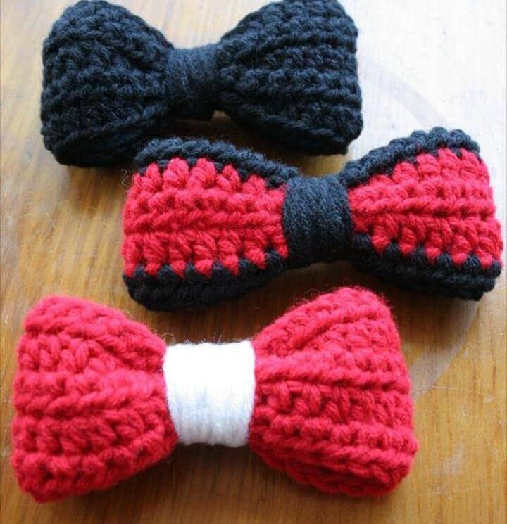 Red and Black Hair Bows