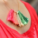 Tassel Necklace , diy necklace