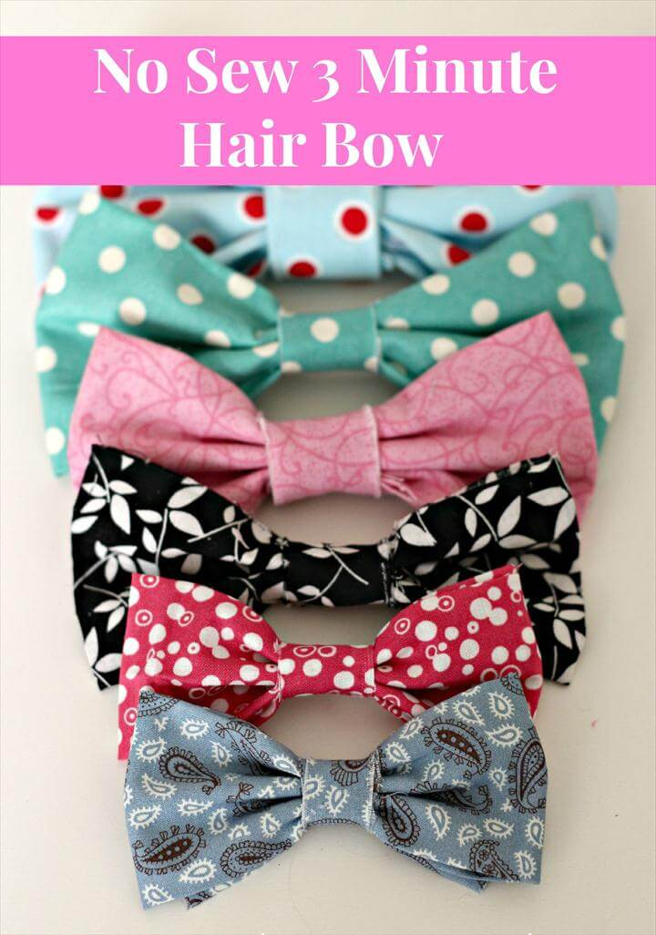 No Sew 3 Minute Hair Bows - Organize and Decorate Everything