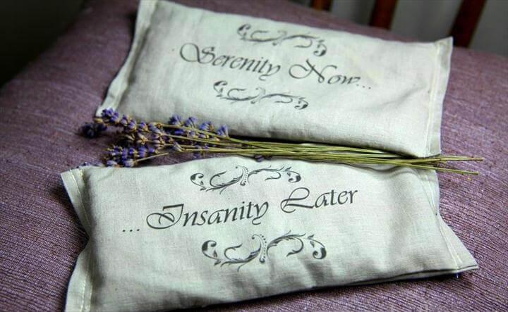 DIY Lavender Eye Pillows
