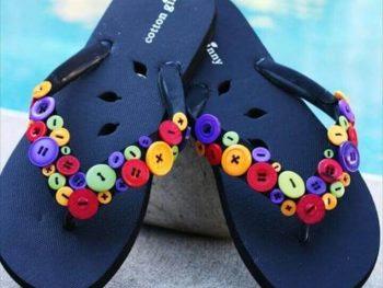 button flip flops