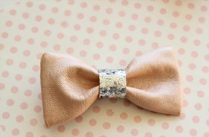 Leather Hair Bows - simple to make, easy to wear!