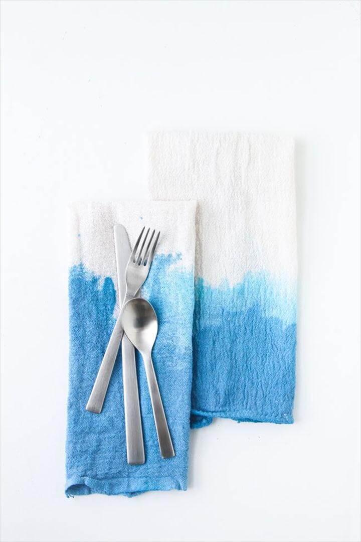 DIY Dip Dye Napkins