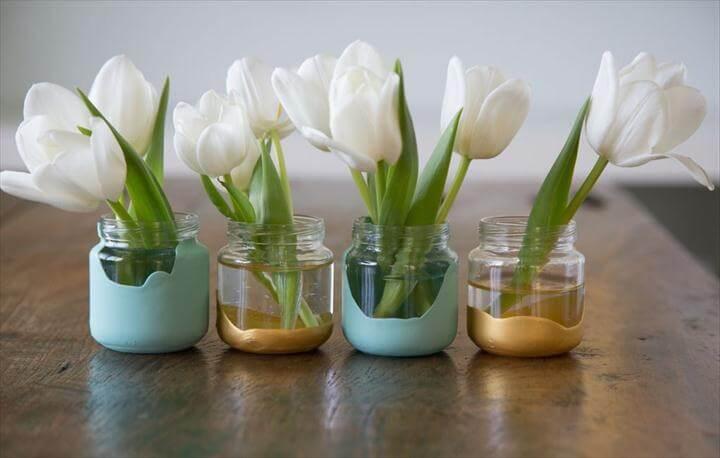 amazing dip dyed vases