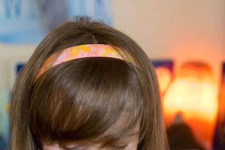 dip dyed headpiece