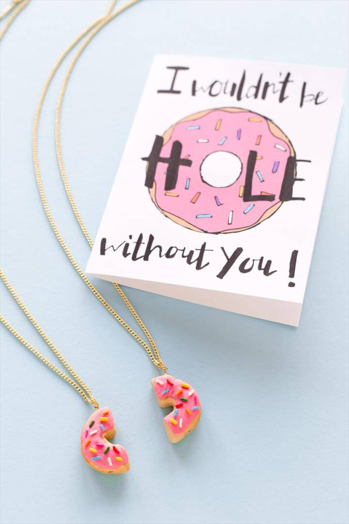 DIY Donut Friendship Necklaces Outfits, Outfit Ideas, Outfit Accessories, Cute Accessories