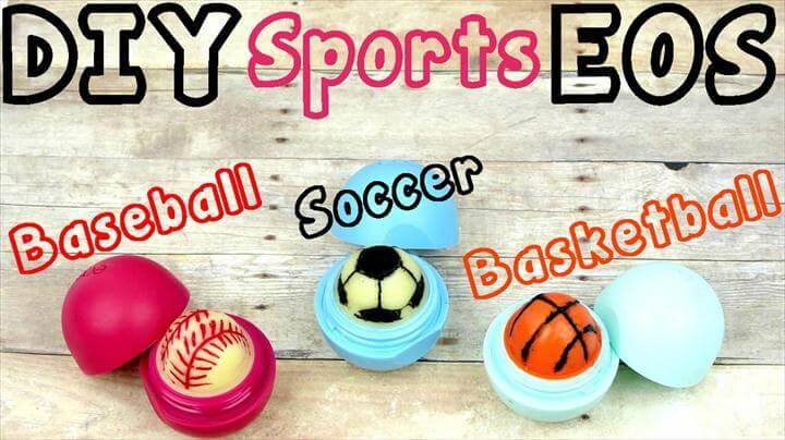 DIY EOS Lip Balm Sports Edition: Soccer, Baseball & Basketball