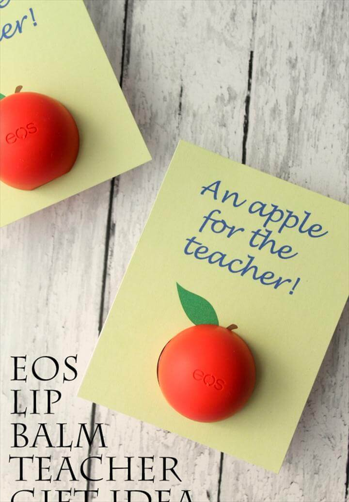 diy gifr, diy ideas, gift for teacher, eos gift, gift ideas