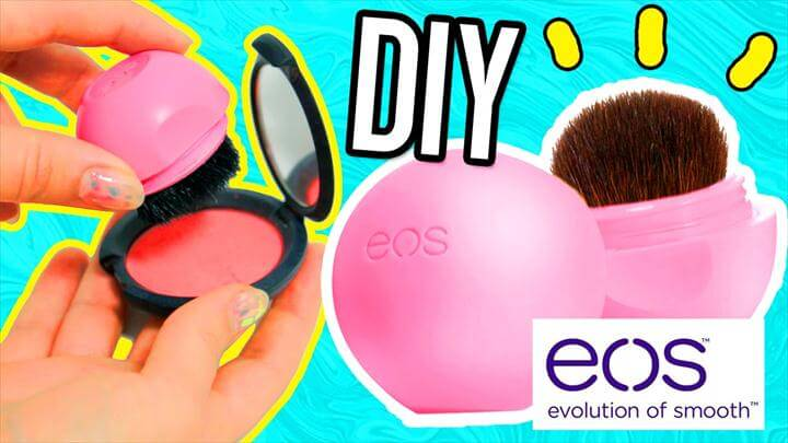 DIY EOS MAKEUP BRUSH