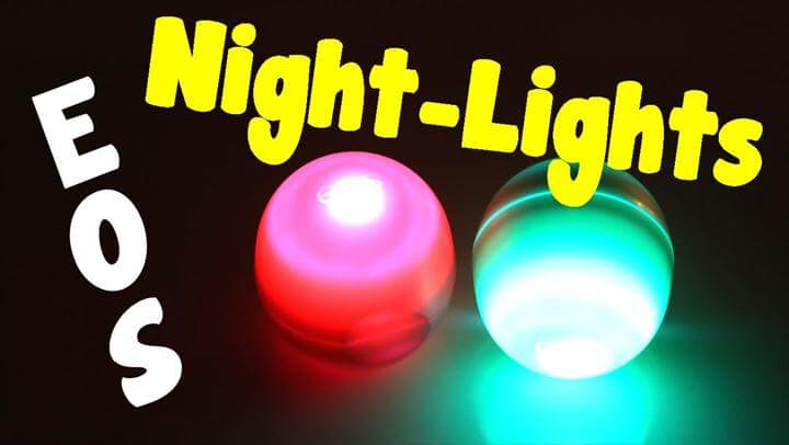 DIY EOS - How To Make A Night Light From An EOS Container - Room Decor Idea (Craft and Project Idea)