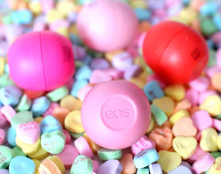 colorful eos lip balm diy