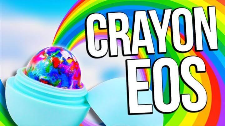 DIY RAINBOW CRAYON EOS