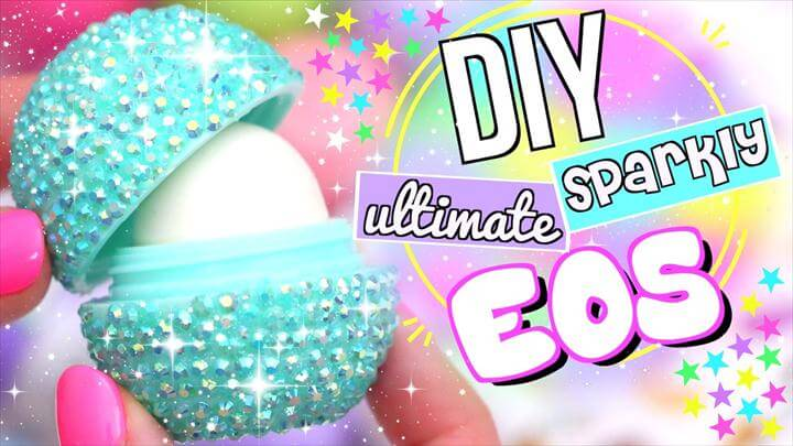 DIY SPARKLY EOS LIP BAL