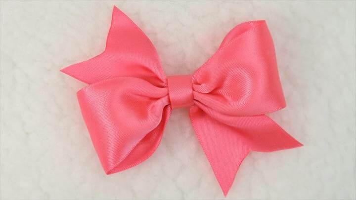 DIY Easy Simple Bow Tutorial, DIY, Hair Bow, Bow
