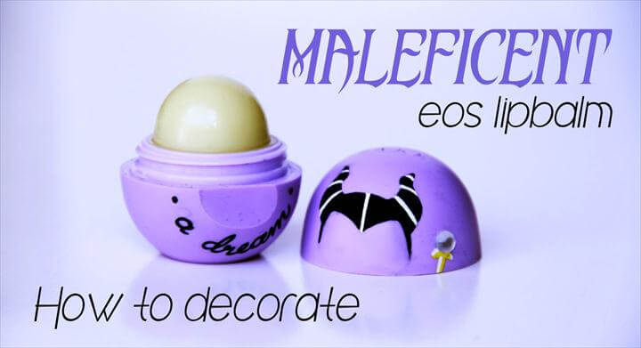 diy eos eos ideas, Maleficent eos lip balm