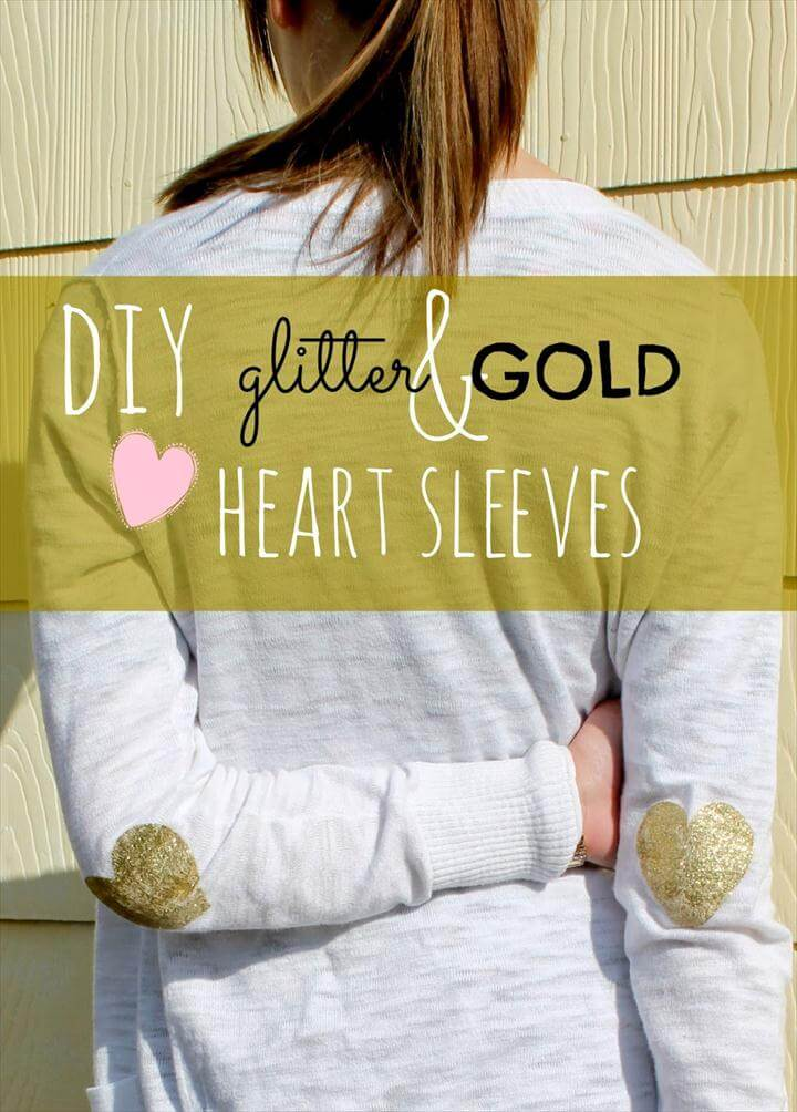 diy elbow patch, heart elbow patch