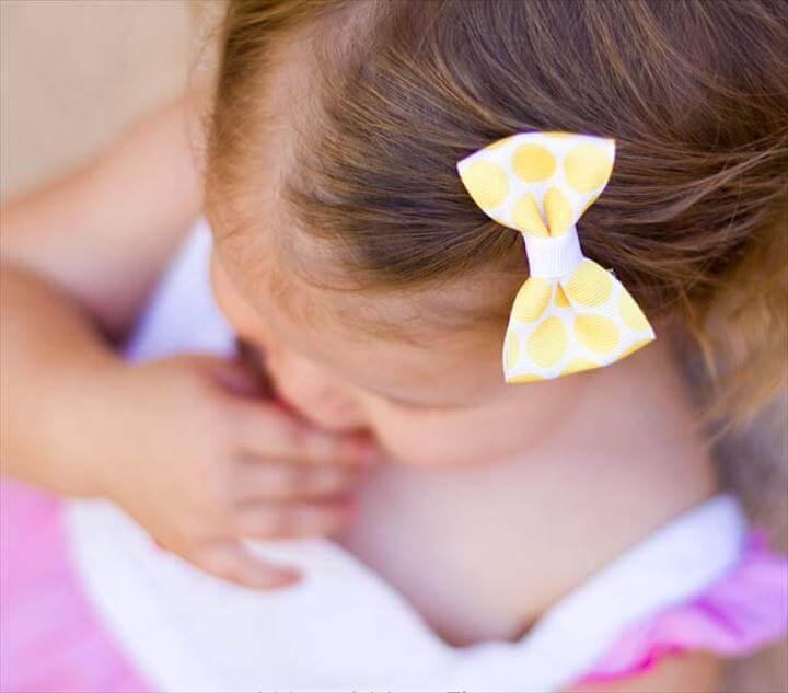 simple hair bow