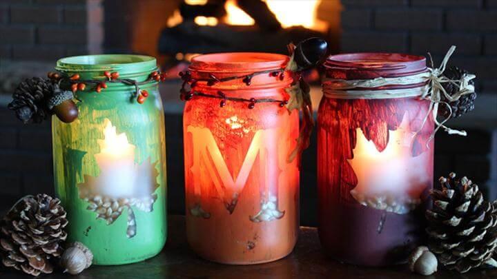 diy mason jar candle, candle for decor home