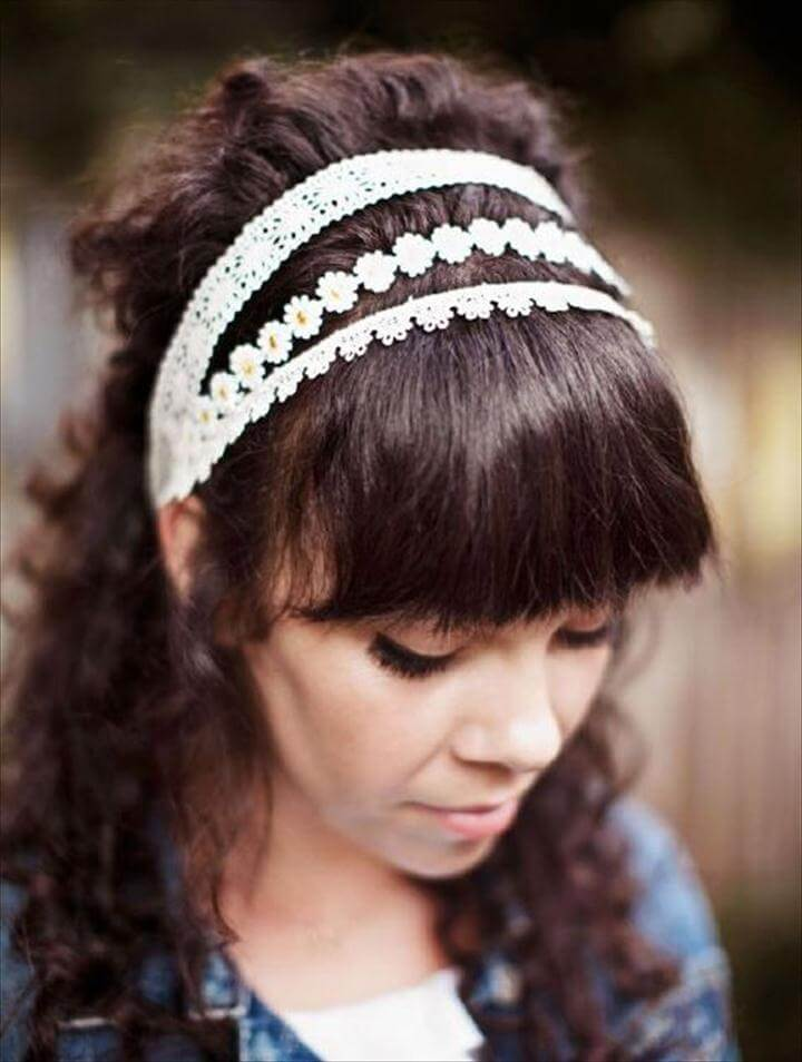 Extra Three part lace headband, Pretty DIY Hair Accessories