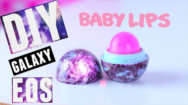 DIY GALAXY EOS LIP BALM with BABY LIPS