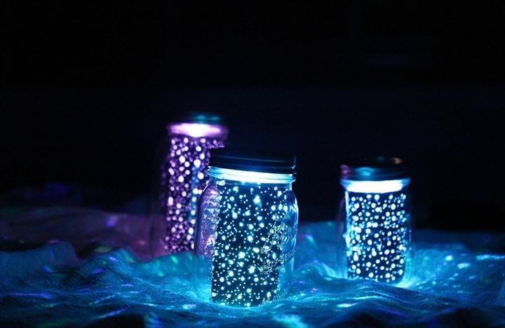Diy Glowing Mason Jars