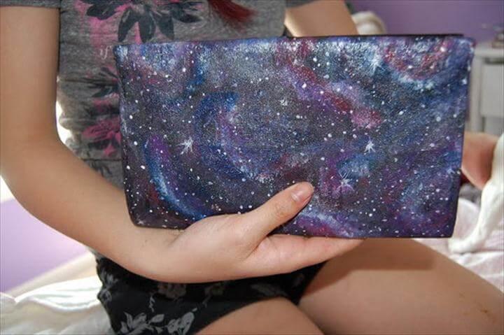 DIY Galaxy Hand Bag