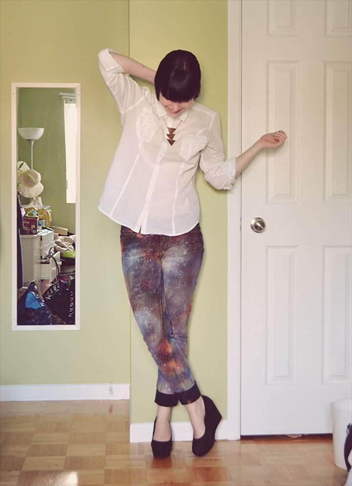 DIY Galaxy Jeans