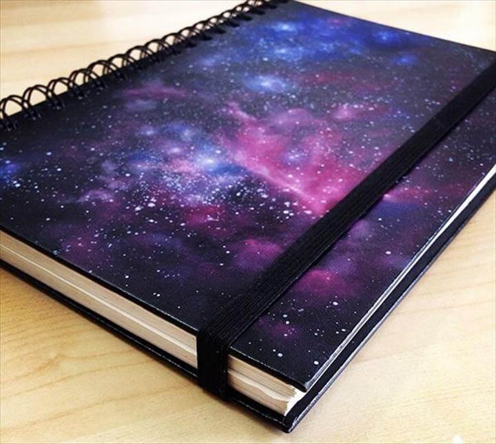 DIY Galaxy Print Book