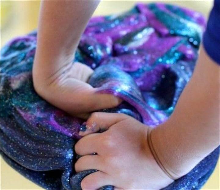 DIY Galaxy Slime for Kids