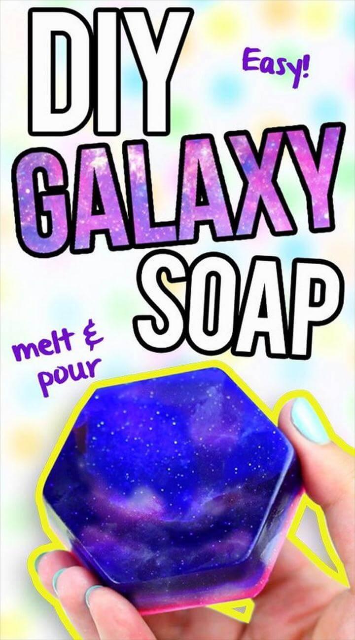 DIY Galaxy Soap