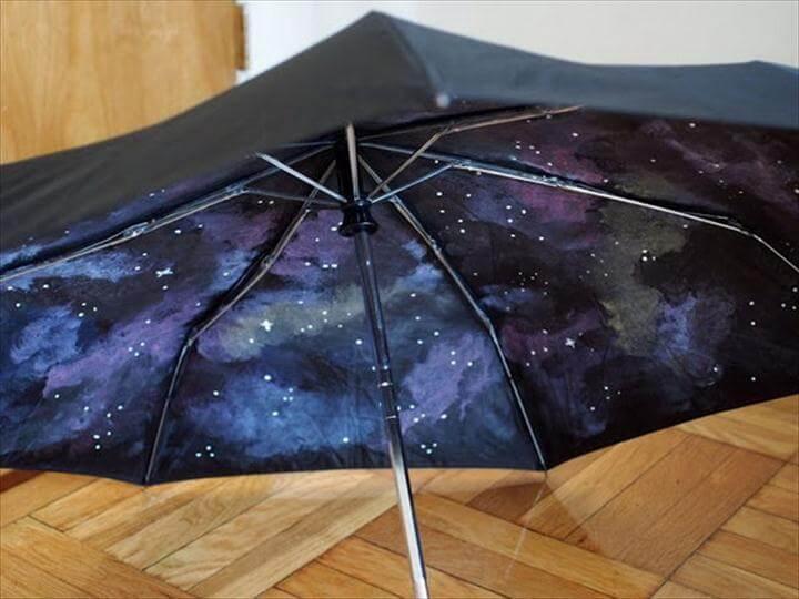 DIY Galaxy Umbrella
