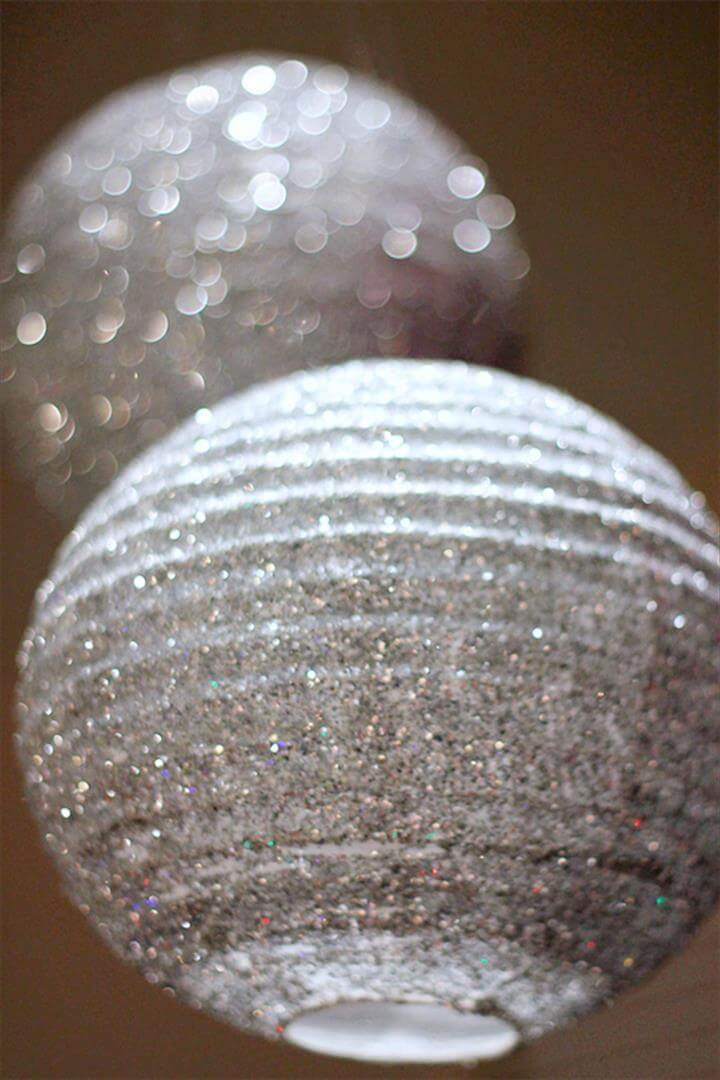 fabulous DIY glitter lanterns, coordinate your wedding colors, use in the