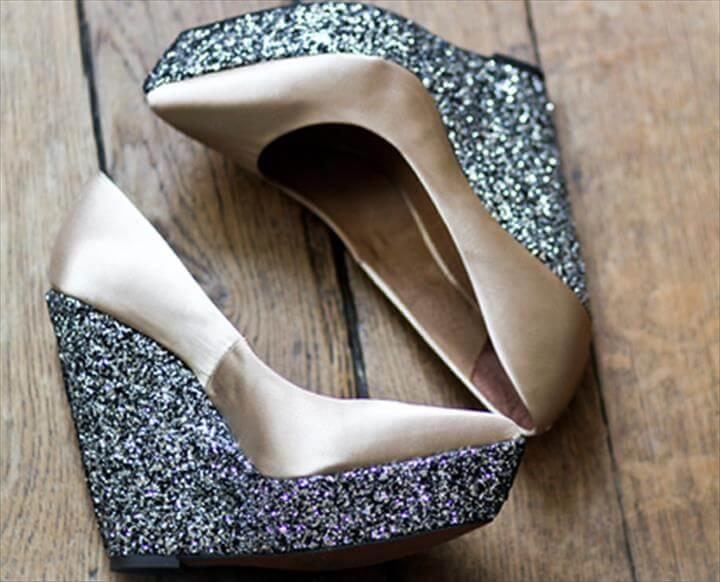 DIY: Glitter Wedges Add Some Sparkle To Your Shoe Wardrobe