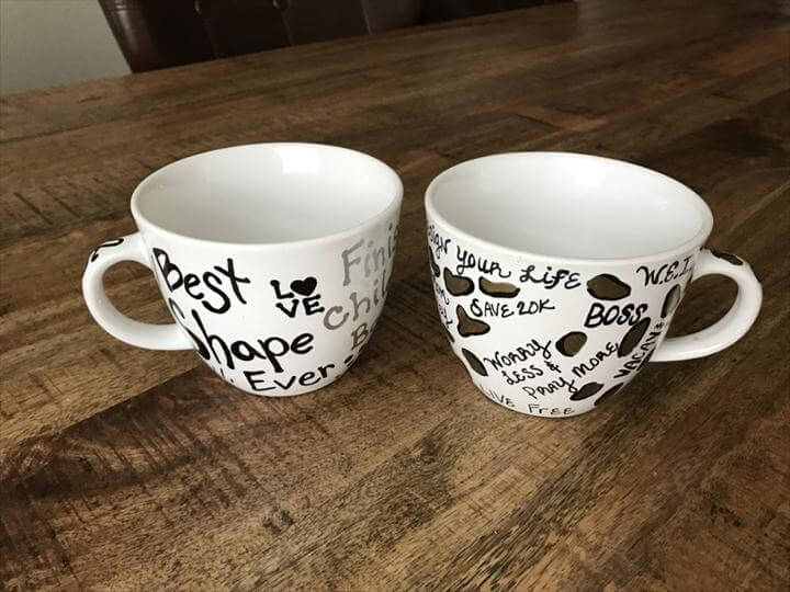 morning coffee mug, holiday coffee mug, easy coffee mug, painted coffee mug, sharpie coffee mug, tutorial