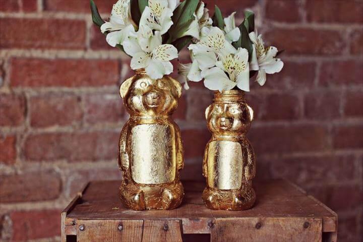 Gold Honey Bear Vase DIY