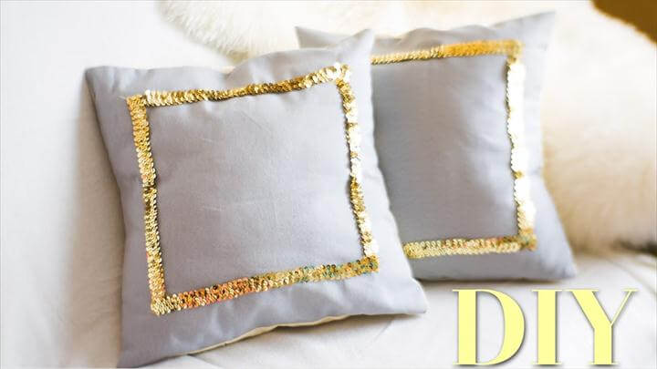 DIY SEQUIN PILLOW FOR HOME DECOR