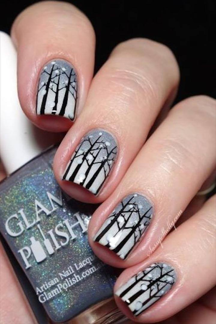 tree nail polish art