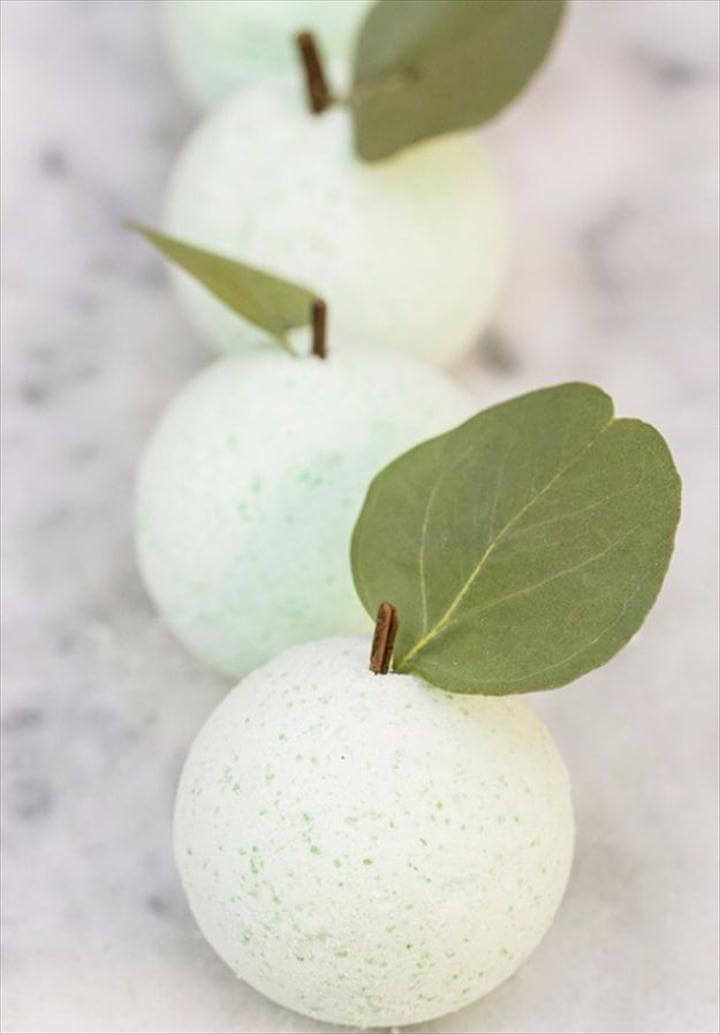 Cool DIY Bath Bombs to Make At Home - DIY Green Apple Bath Bombs - Recipes