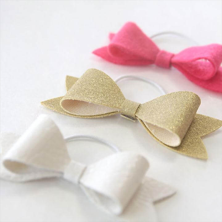 easy DIY hair bow elastics - great gift
