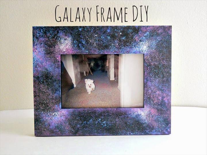 diy frame, galaxy frame