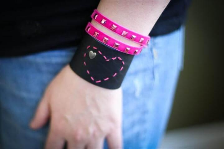 Heart Bracelet DIY, DIY Leather Bracelets