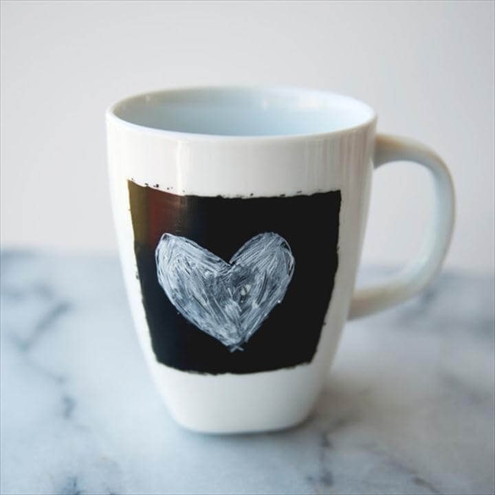 chalkboard heart coffee mug