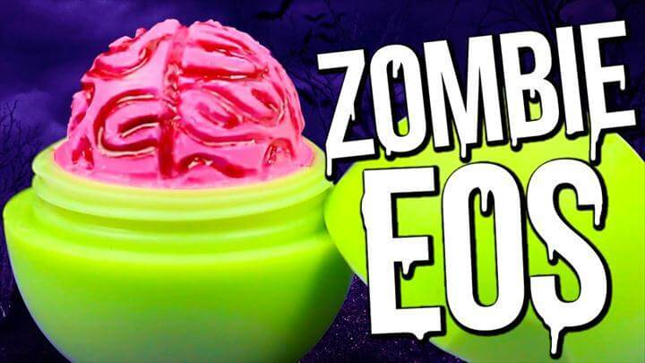 DIY Zombie Brain EOS , Halloween Lip Balm!