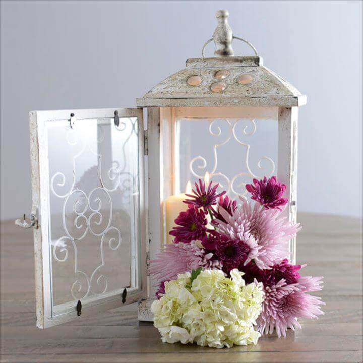DIY Lantern Centerpiece