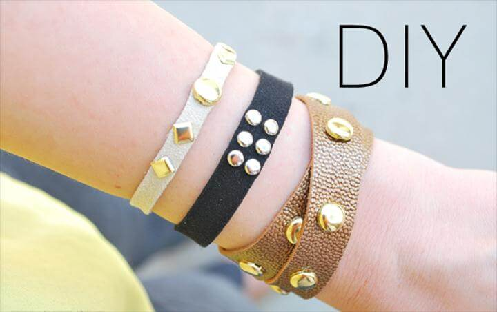 leather studded wrap bracelet
