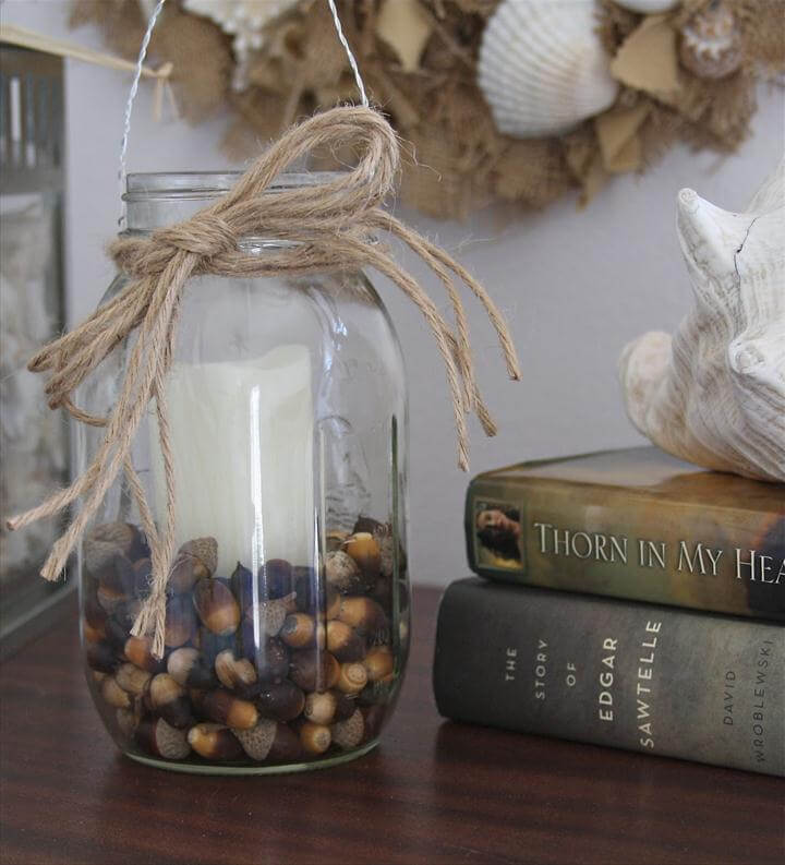 DIY Mason Jar Candle Holder