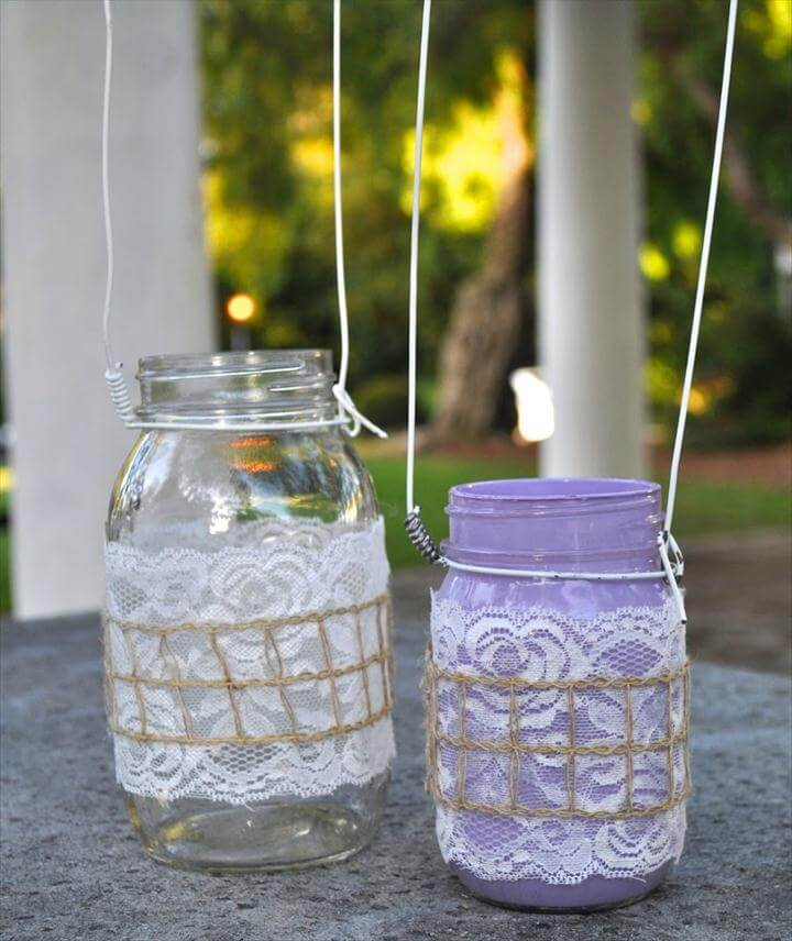 DIY Mason Jar Lanterns