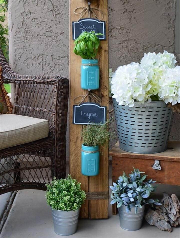 mason jar hanging pots