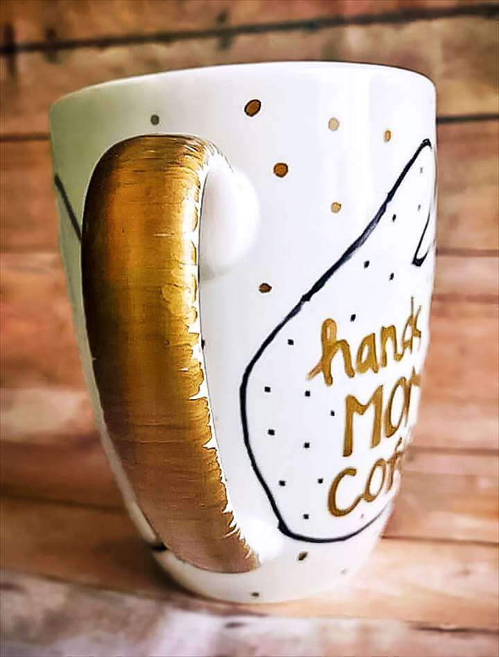 DIY Coffee Mug Handprint Gift for Mother's Day